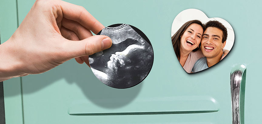 Magnet frigo échographie