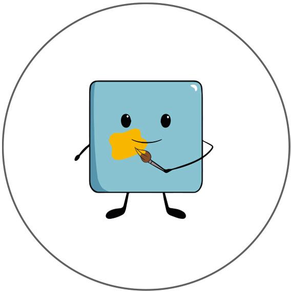 Faire-part magnet de naissance illustrations et filtres