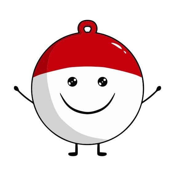 Icône magnet boule de Noël personnalisé