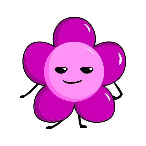 Magnet fleur personnalisé icône