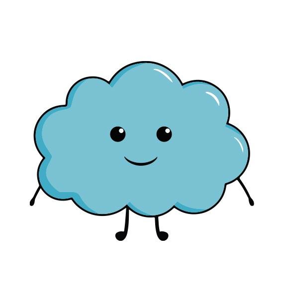 Magnet nuage personnalisé icône