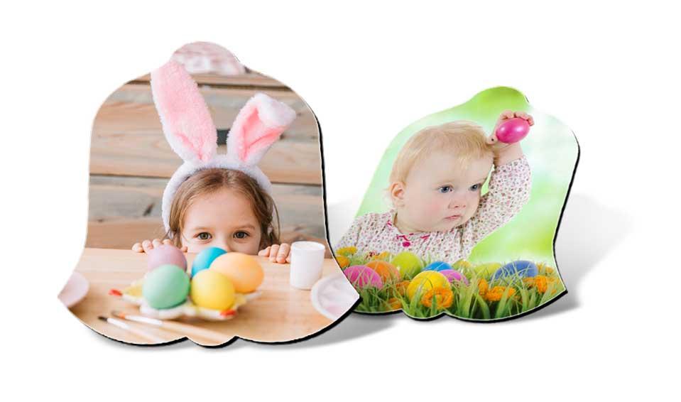 Photo magnet cloche de Pâques personnalisable