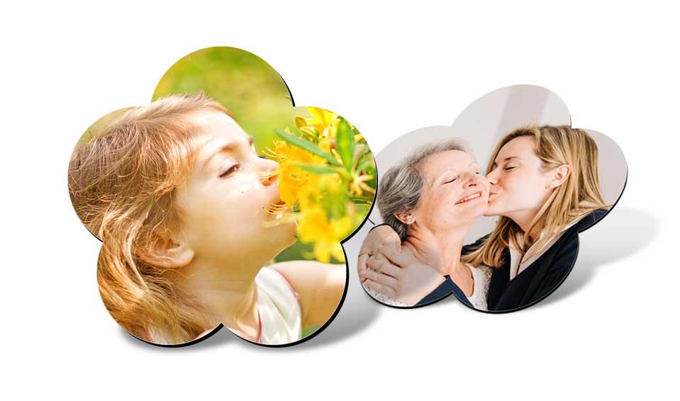 Magnet frigo fleur personnalisé